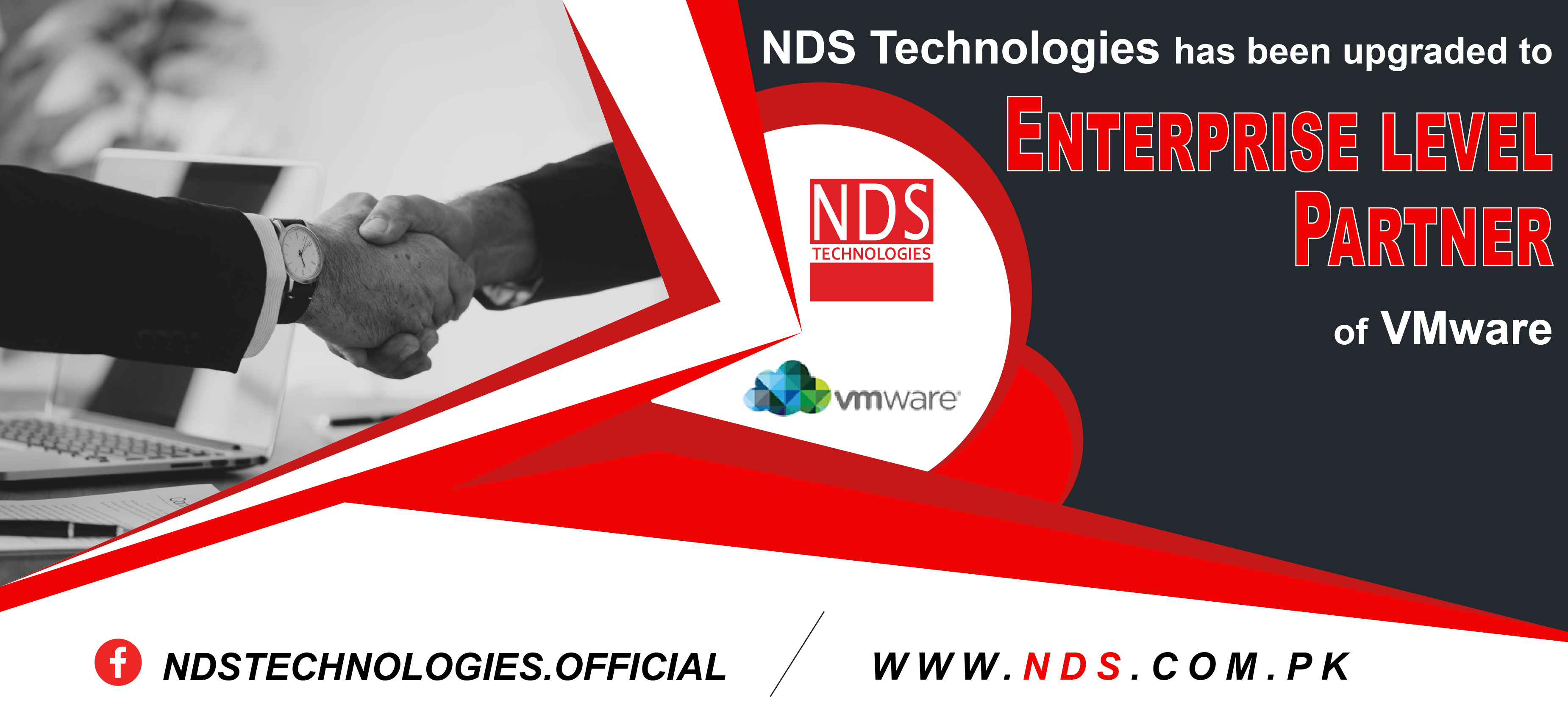 NDS Technologies has been upgraded to Enterprise level Partner of VMware