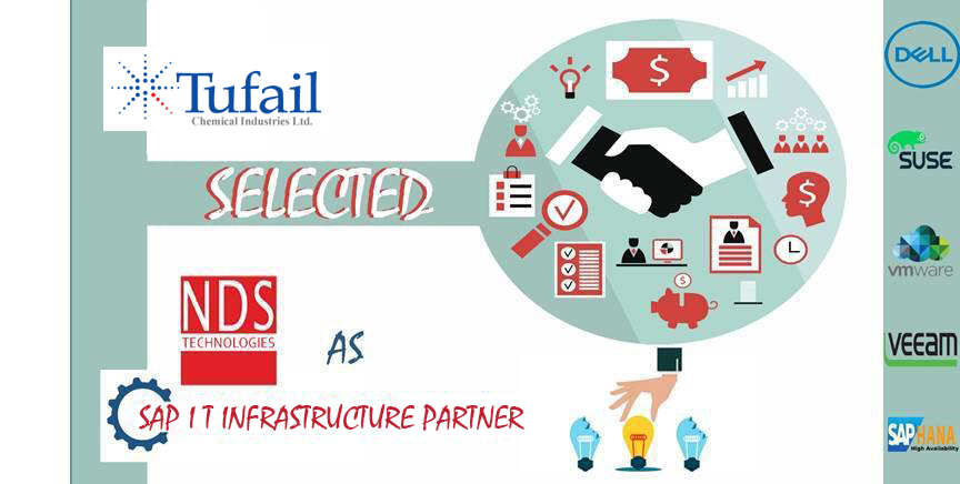 Tufail Chemicals selected NDS Technologies as SAP IT infrastructure Partner