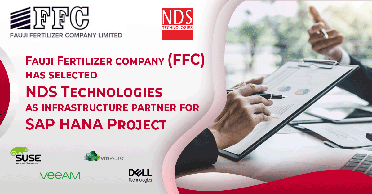 Fauji Fertilizer Company (FFC) has selected NDS Technologies as infrastructure partner for SAP HANA Project