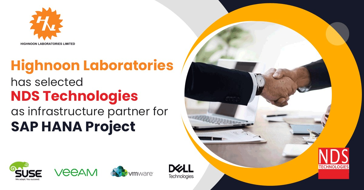 Highnoon Laboraties has selected NDS Technologies as infrastructure partner for SAP HANA Project