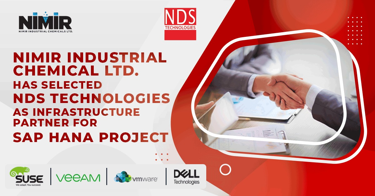 Nimir Industrial Chemical Limited has selected NDS Technologies as infrastructure partner for SAP HANA Project