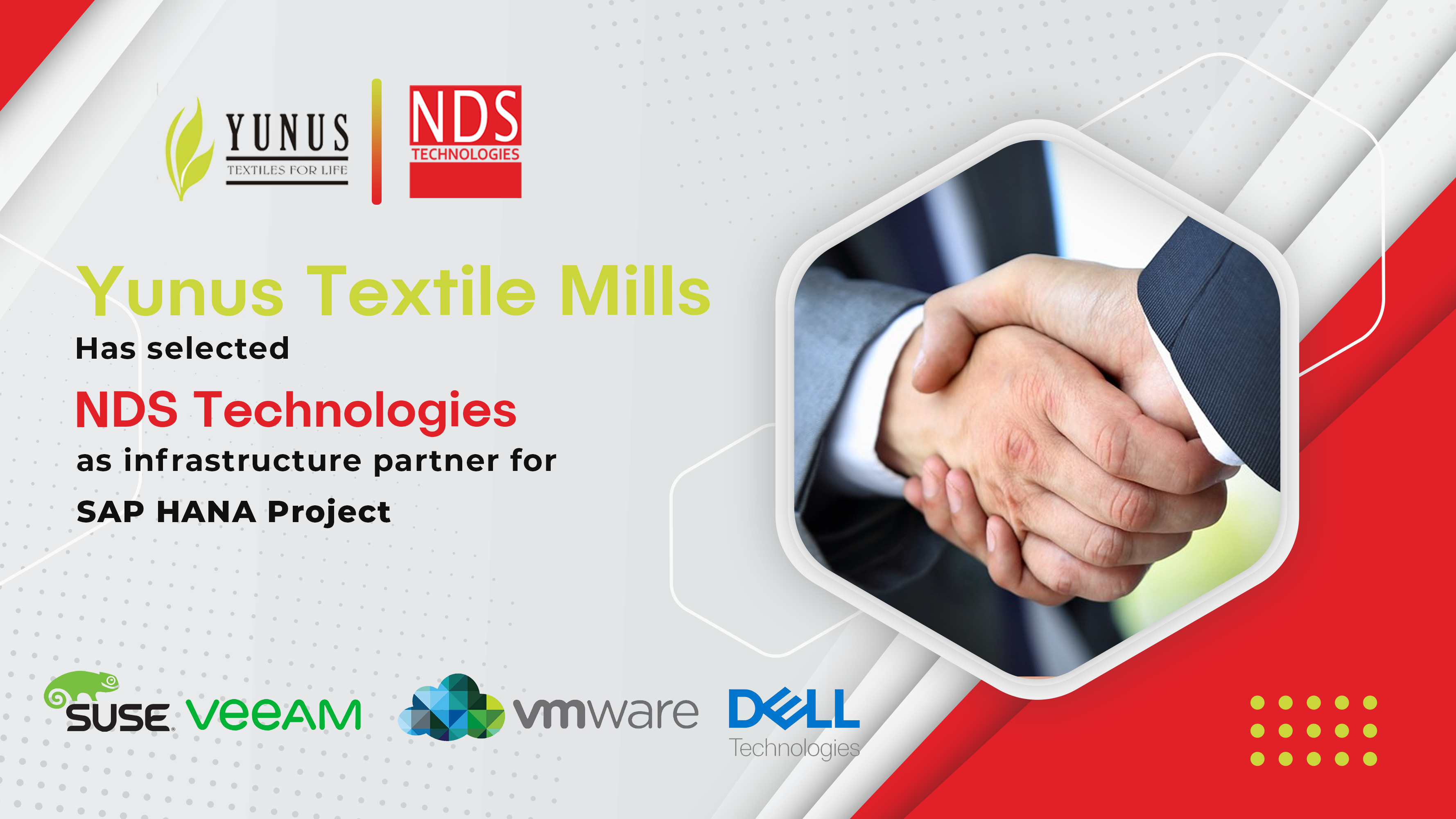 NDS Technologies Pvt Limited is now a Yunus Textiles Platinum Partner